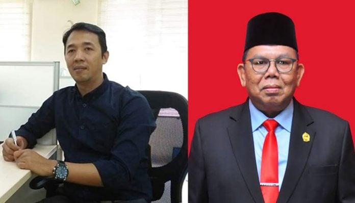 Pengamat Politik dari UIN Sumatera Utara, Faisal Riza dan Ketua DPRD, Baskami Ginting.