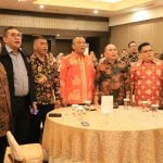 Kadis Pariwisata Kota Medan, Agus Suriyono (tengah) saat menghadiri Welcome Dinner 2nd Medan Fam Trip and Travel Mart 2019 di Hotel Emerald Garden Medan, Rabu (11/12/2019).