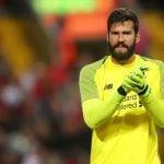 Kiper utama Liverpool, Alisson Becker.