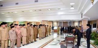 Gubernur Sumatera Utara, Edy Rahmayadi, melantik 2 pejabat eselon II untuk posisi asisten dan 85 pejabat eselon III dari berbagai dinas di lingkungan Pemprov Sumut.