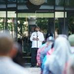 Plt Wali Kota Medan Akhyar Nasution saat pidato pada apel perdana 2020 di Balai Kota Medan, Kamis (2/1/2020)