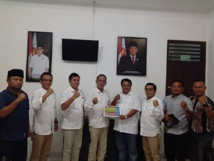Bakal Calon Walikota Siantar, Ismael SH, ikuti fit and proper test Gerindra Sumut, di Kantor Dewan Pimpinan Daerah (DPD) Gerindra Sumut.