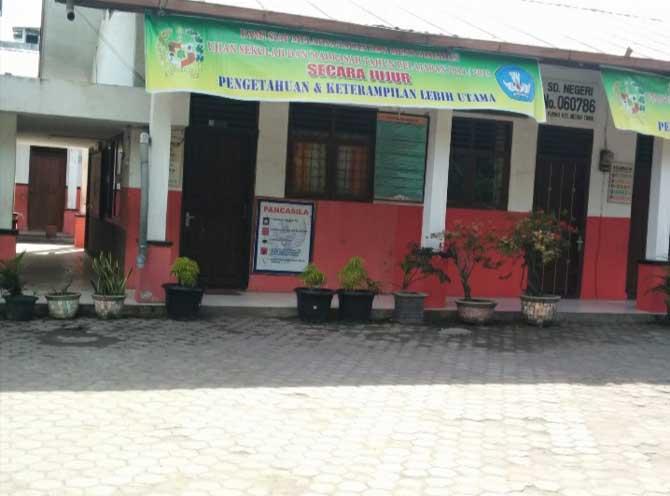 SD Negeri No 060786, Jalan Purwo, Kelurahan Perintis, Kecamatan Medan Timur.