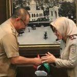 Plt Walikota Medan Akhyar Nasution, saat bertemu dengan Kepala BPN Medan, Senin (6/1/2020)