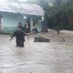 Hujan deras di Sumatera Utara juga merendam Tapanuli Bagian Selatan (Tabagsel), yang dilintasi Sungai Batang Toru dan Batang Ayumi, Rabu (29/1/2020).
