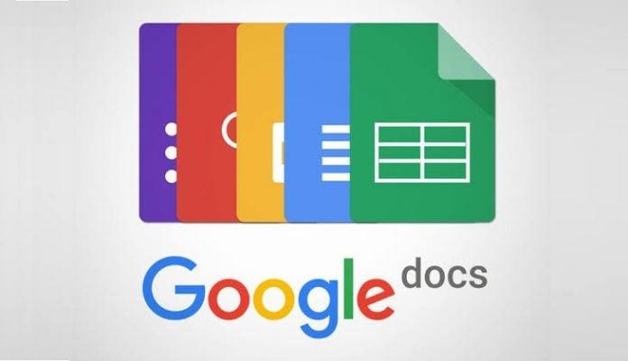 aplikasi Google Documents atau Google Docs, setelah layanannya menurun (down), Selasa (28/1/2020) dinihari.