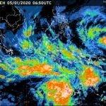 Rilis citra satelit BMKG yang memprakirakan cuaca ekstrem di wilayah Indonesia hingga 12 Januari 2020. (kaldera/bmkg)