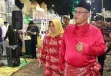 Plt Walikota Medan, Akhyar Nasution saat MTQ ke-53 tingkat Kota Medan di Jalan Ngumban Surbakti, Kelurahan Sempakata, Kecamatan Medan Selayang, Sabtu malam (15/2/2020).