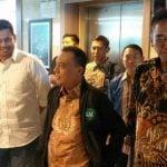 Bobby Nasution saat menyambangi Kantor Fraksi Partai Gerindradi DPR, Jakarta.
