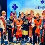 Delegasi Sumut foto bersama dengan Ketua BPP PHRI Hariadi Sukamdani di Resinda Hotel Kawarang Jawa Barat yang menjadi arena Munas ke XVII, Senin (10/2/2020).