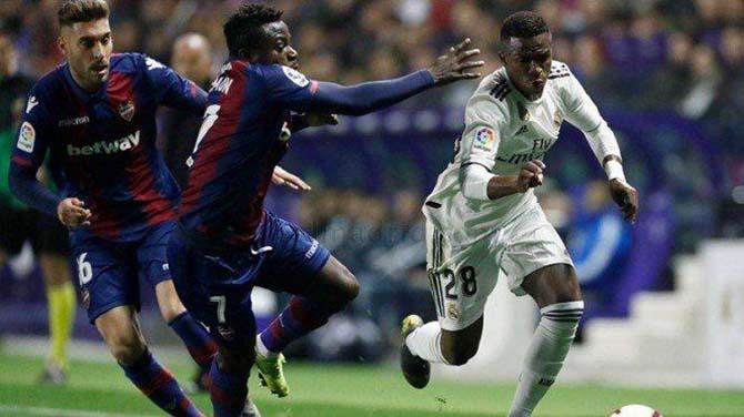 Real Madrid tersandung dalam pekan ke-25 LaLiga. (ist)