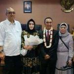 Mantan Kapolrestabes Medan, Kombes Pol Sandi Nugroho, meraih gelar Doktor Ilmu Hukum di Universitas Sumatera Utara dalam sidang promosi, Senin (10/2/2020).