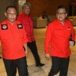 Sekjen PDI Perjuangan, Hasto Kristiyanto (kanan) bersama Akhyar Nasution