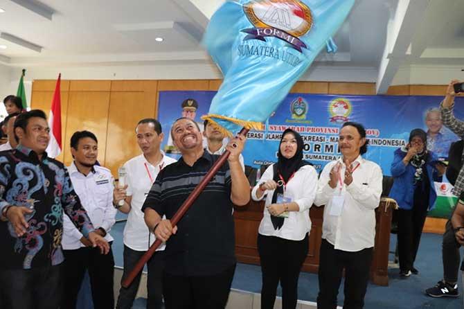 Tokoh olahraga dan pemuda Sumatera Utara, H Baharuddin Siagian terpilih sebagai Ketua Umum Federasi Olahraga Rekreasi Masyarakat Indonesia (FORMI) Sumut periode 2020-2025.