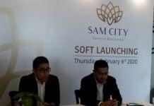 Direktur Sam City, David Sembiring saat soft launching Sam City di Srikandi Botanica, Kamis (6/2/2020).