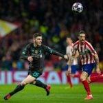 Bek Sayap Liverpool Andrew Robertson optimis menatap leg kedua versus Atletico di Anfield.