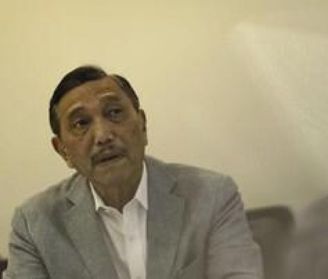 Menteri Koordinator Bidang Kemaritiman dan Investasi Luhut Binsar Panjaitan.