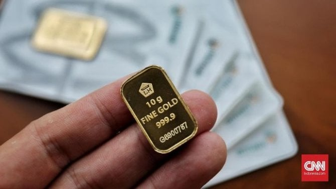 Harga Emas Di Pasar Dekati Rp800 Ribu Per Gram.
