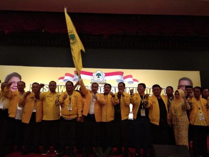 Selesai Musyawarah Daerah (Musda) X Golkar Sumatera Utara.