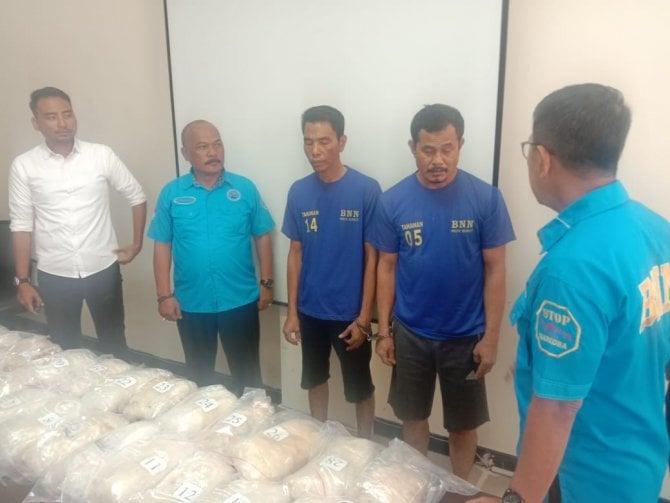 Simpan Sabu Di Tangki Truk, Dua Warga Aceh Diamankan.