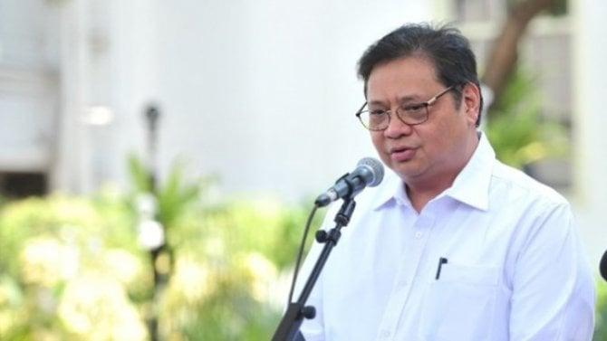 Menteri Koordinator (Menko) Bidang Perekonomian Airlangga Hartarto. (ft : Pasardn)