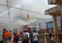 Suasana kebakaran yang melanda Rutan Klas II Kabanjahe, Rabu (12/2/2020)