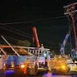 Tim teknis PLN dari Panyabungan dan Padangsidimpuan bekerja hingga Minggu malam memulihkan gangguan listrik yang terjadi akibat tumbangnya tiga tiang listrik di Desa Sayur Matinggi, Tapanuli Selatan, akibat puting beliung. Kondisi kelistrikan baru pulih MInggu malam sekira pk.22.00.