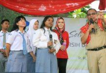 Plt Walikota Medan, Akhyar Nasution menghadiri acara di Yayasan Pendidikan Nurcahaya di Jalan Bunga Cempaka, Kecamatan Medan Selayang.