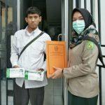 Pemko Medan membagikan sebanyak 10.500 masker ke 21 kecamatan secara gratis, Senin (23/3/2020).