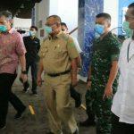 PLT Walikota Medan, Akhyar Nasution ketika meninjau Terminal Penumpang Bandar Deli Pelabuhan Belawan Jalan Stasiun Belawan, Senin (23/3/2020).