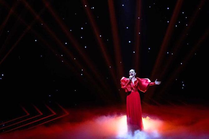 Penampilan Lyodra Ginting dalam panggung Result & Reunion Indonesian Idol X. (ist)
