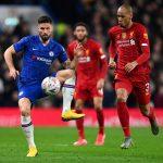 Oliver Giroud pada laga Piala FA, Chelsea vs Liverpool. (ist)