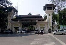 Pintu gerbang Lapangan Merdeka Medan yang terletak di Jalan Pulau Penang.