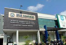 BPJS kantor cabang Medan, Jl. Karya, Karang Berombak, Selasa (10/3/ 2020).
