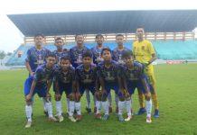 Aditya (kiper, jersey kuning) dipanggil Timnas U-16 untuk Piala AFF dan Piala Asia.