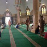 Suasana Masjid Raya Al Mashun Medan jelang salat Jumat, hari ini