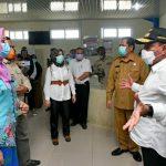 Edy saat mengunjungi RSUD Padangsidimpuan Jalan Fl Tobing Padangsidimpuan, Selasa (7/4/2020).