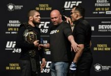 Duel UFC 249 antara Khabib Nurmagomedov vs Tony Ferguson