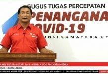 Kepala UDD PMI kota Medan dr Harry Butar - Butar