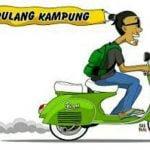 Ilustrasi Pulang Kampung menaiki sepeda motor