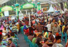 Suasana ramai Ramadhan Fair di Kota Medan tahun lalu, bisa saja tidak akan terlihat lagi di saat pandemik virus corona tahun ini