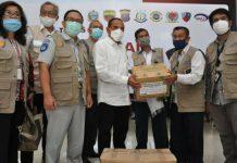 TEKS: Gubsu Edy Rahmayadi menerima bantuan dari Satgas Bencana BUMN untuk memerangi Covid-19