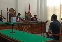Chandra Lubis, Saksi meringankan untuk terdakwa Dzulmi Eldin saat memberikan keterangan di Persidangan