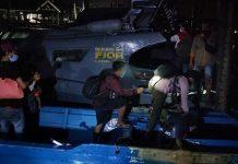 Tim Fleet One Quick Response (F1QR) Pangkalan TNI AL Tanjung Balai Asahan Lantamal I dan Satpolair Polres Tanjung Balai yang kembali amankan 30 TKI ilegal dari Malaysia.
