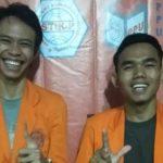 Rimba Zait (kiri) terpilih menjadi Ketua BEM STIK-P Medan