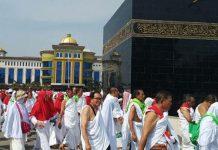 Dokumentasi suasana manasik haji di Asrama Haji Medan (int)