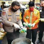 Pemusnahan sabu-sabu seberat 35 kg yang dipimpin Kapolrestabes Medan, Kombes Pol Riko Sunarko