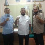 Foto bersama selesai rapat di ruang rapat Dispora Medan, Jalan Ibus Raya, Rabu (17/6/2020).