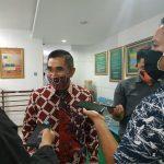 Mantan Ketua MK, Hamdan Zoelva, usai memberikan keterangan di PTUN Jakarta