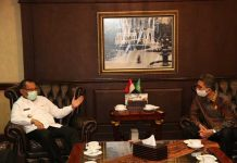 Anggota DPRD Sumut, Benni Harianto Sihotang saat bersama Plt Walikota Medan, Akhyar Nasution.